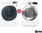 LG 8kg Front-Load Washer & LG 8kg Condenser Dryer Bundle $1798, Get up to $400 Rebate ($650 in Underwood QLD) @ Betta