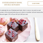 [VIC] Entertainment Book - Double Rewards at Melba, Langham (25% off Bill for 2 Visits Instead of 1 Visit)