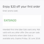 $20 off First Uber Eats Order