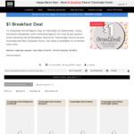 $1 Breakfast (Minimum 1 Night Stay Required) @ 16 Travelodge Hotels across Australia and New Zealand