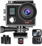 Campark 4K Waterproof Action Camera $69.99 (~Save $30), Camera+32GB TF Card $76.99 with Dual Screen SONY Sensor @ Campark Amazon