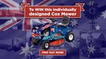 Win an Individually Designed Australia Day Edition Ride on Mower Worth $4,295 from Cox Mowers on Facebook