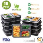 50x 3 Compartment Meal Prep Containers $80.10 Delivered + More @ Jugglebox