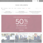 50% off Sitewide @ Van Heusen