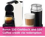 DeLonghi Nespresso Essenza Mini White Coffee Machine with Frother $188 ($168 after Cash Back) + Delivery @ Peter's of Kensington