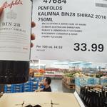 Penfolds Kalimna Bin 28 Shiraz 2016 Red Wine Barossa 750ml $33.99 (Normally $36.89) @ Costco (Membership Required)