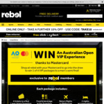 Win an Australian Open VIP Experience (Rebel Sport Membership + Purchase Conditions Required)