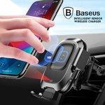 15% off BASEUS Intelligent Sensing Air Vent Wireless Car Holder Vehicle Bracket Charger $30.59 Delivered @ Mobile Mall on eBay