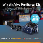 Win an HTC VIVE Pro Starter Kit Worth $2,040 from Scan