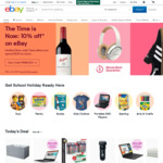 $10 off One Purchase (No Minimum Spend, Some Exclusions) @ eBay
