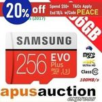 Samsung EVO Plus 256GB Micro SD Card $59.96 + Delivery (Free with eBay Plus) @ Apusauction eBay