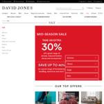 30% off Sale Items (e.g: Business Shirts $10 + More) @ David Jones