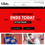 Dresses, Shorts, Singlets, T-Shirts, Men & Women Styles from $20 + Free Delivery for Orders > $75 @ Glue Store
