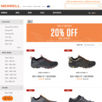 Merrell Take a Further 20% off Already Reduced Sale Styles. Free Shipping on $150 Spend