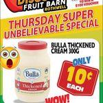 [QLD] Bulla Thickened Cream 300gm - $0.10, Watermelon $0.09 per Kg @ Northside Discount Fruit Barn (Rothwell)