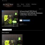 Schwarzkopf [3D] Hair&Body Shampoo + [3D] Men Texture Clay Free Shipping $24.95 (RRP $44.95) @ Get Buzzed Barber