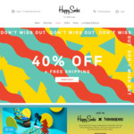 40% off Happy Socks & Free Shipping + 20% ShopBack Cashback