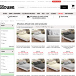 Up to 86% off on Bed Sheet Sets (Single Bed from $12.98 / DB and QB from $16.98, KB from $19.98 and More) @ House