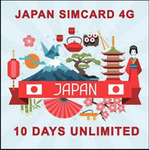 Japan 10 Days Travel Sim Card with Unlimited Data (FUP 500MB/Day) - $26 Delivered @ Travel_kon via eBay