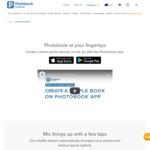 "Free 6"" X 6"" Simple Book (Photo Album, Up to 21 Photos) + $5.95 Shipping @ Photobook via app"