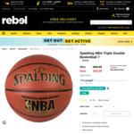 ½ Price Spalding NBA Triple Double Basketball $34.99 + Shipping / Pickup (Was $69.99) @ rebel Sport