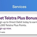 50000 Telstra Plus Rewards Points for Direct Debit