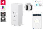 Kogan SmarterHome Smart Plug with Energy Meter & 5V 2.4a USB Ports (4 Pack) $69 Delivered @ Kogan