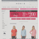 50 Items for $200 + Free Delivery Over $105 @ Noni B Clothing