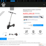 Mercane Wide Wheel 2019 Dual Motor 1000w Electric Scooter $1095 @ Scooter Hut