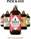 Pick & Mix 6 Pack + Free Mixology Booklet $65 Delivered @ Soda Press Co