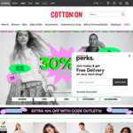 30% off + Extra 15% off Site Wide @ Cotton on eBay