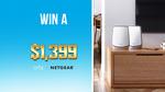 Win 1 of 2 Netgear Orbi Wi-Fi 6 Mesh Systems Worth $1,399 from Nine Network