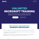 Unlimited Microsoft Training from DDLS until December with 2 Exam Vouchers $7500