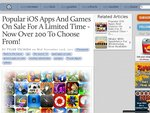 Popular iOS Apps And Games On Sale For A Limited Time - Now Over 200 To Choose From!