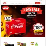 [NSW, ACT] Coca-Cola 30x375mL (Selected Varieties) $18.75 @ Selected SUPA IGA & IGA