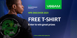 Free HPE Veeam T-Shirt Delivered (Company Email & Private Browser Mode Required) @ Veeam