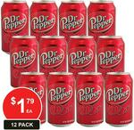 12x Dr Pepper Cans 330ml $17.20 + Delivery (Free Delivery with Club Catch) @ Catch
