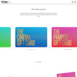 10% off TCN Pamper/Cinema/Holiday & Hotel Gift Cards (1% Processing Fee Applies) @ The Card Network