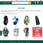 GolfBox: 20% off Bags + Delivery ($0 with $35 Order)
