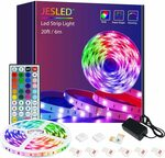 JESLED RGB LED Strip Lights 6m for Bedroom $14.99 + Delivery ($0 with Prime/ $39 Spend) @ JESLED AU DIRECT via Amazon AU