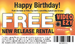 (WA) Free New Release Movie Rental Video Ezy (for Birthday) - Need Student Edge card