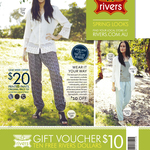 Free $10 Rivers Voucher - No Minimum Spend, In-Store Only