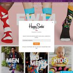 20% off at Happy Socks When Buying 2 or More Items; Shipping Starts at $4