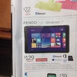 "Pendo Pad Windows 8"" Tablet 16GB ROM 1GB RAM $129 @Target"