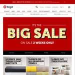 Target Big Sale: 50% off 500 & 1000 Thread Sheet Sets, 40% off Tontine Pillows & Doonas, Dyson up to $200 off + More