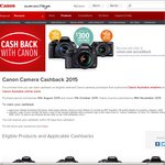 Canon Cash Back on DSLR from $75 to $300