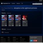 Deception IV: The Nightmare Princess Digital Copy PSStore Vita $29.97| PS3 $45.57| PS4 $55.96