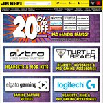 20% off Pro Gaming Brands @ JB Hi-Fi (in Store and Online) Astro/Turtle Beach/Steel Series and Others