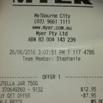 Nutella 750g $5 at Myer Melbourne City Store