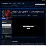Metal Gear Solid V: The Phantom Pain for PS4 for $24.95 @ Australian PS Store